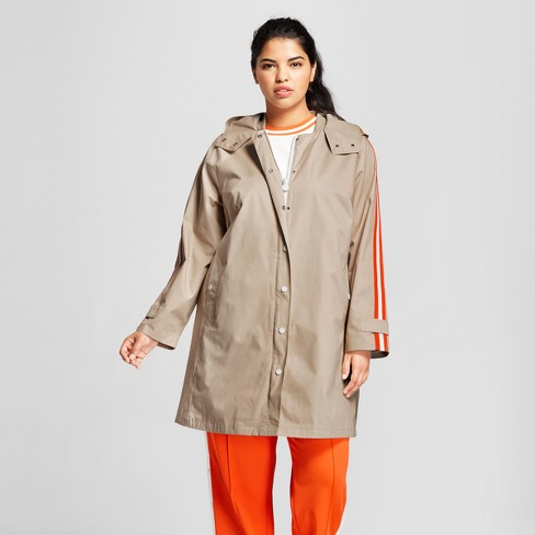 bd3f2069742 Hunter For Target Women s Plus Size Hooded Trench Coat - Khaki   Target