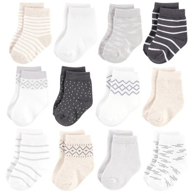 Touched by Nature Baby Unisex Organic Cotton Socks, Modern Neutral