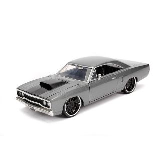 Jada Toys Fast & Furious 1970 Plymouth Road Runner Die-Cast Vehicle 1:24 Scale Charcoal Gray