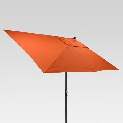 9.68' x 6.4' Rectangle Umbrella - Coral - Black Pole - Threshold™