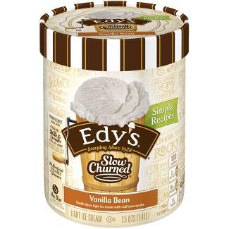 Edys® Vanilla Bean Slow Churned Ice Cream - 1.5qt