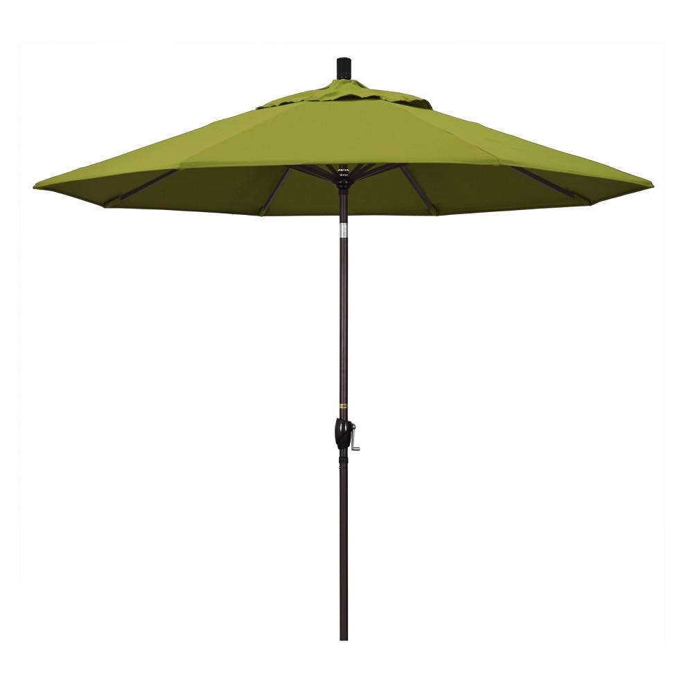 9 Aluminum Push Tilt Patio Umbrella Ginkgo