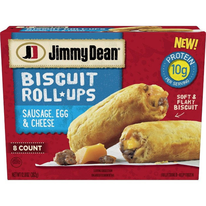 Jimmy Dean Sausage, Egg & Cheese Frozen Biscuit Roll-Up - 8ct - image 1 of 3