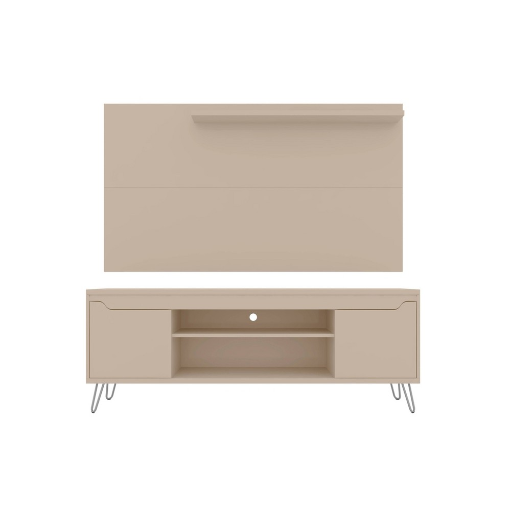 50 34 Baxter Tv Stand And Liberty Panel Off White Manhattan Comfort