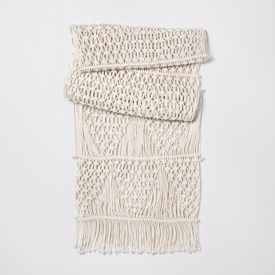 Cream Macramé Table Runner - Opalhouse™