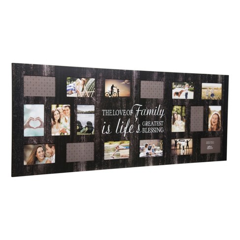 Multiple Image 18 Opening Family Collage Frame Gallery Solutions Target