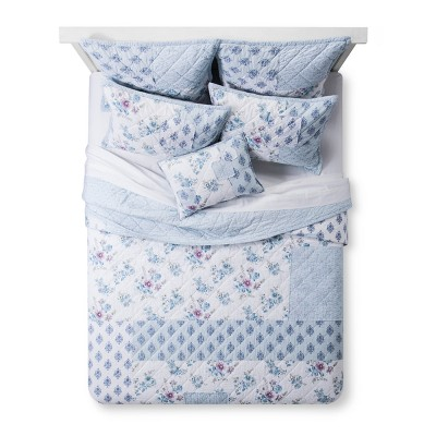 Blue Dascha Patchwork Quilt (King) - Simply Shabby Chic®