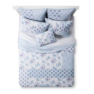 Blue Dascha Patchwork Quilt (Full/Queen) - Simply Shabby Chic®