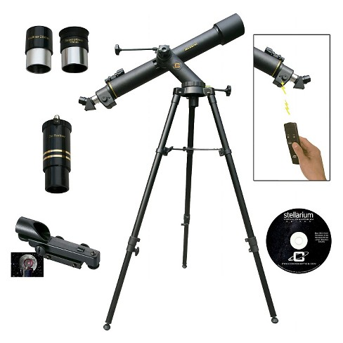 Cassini 800x72 Tracker Electronic Focus Refractor Telescope - Black - image 1 of 2