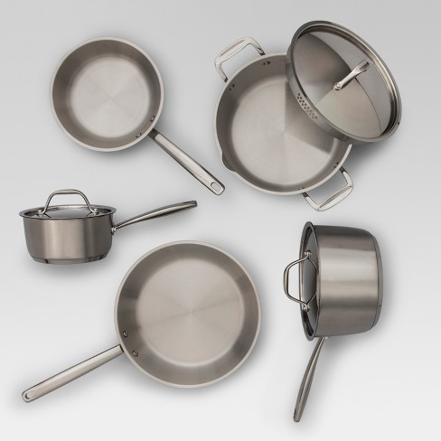 What Is Stainless Steel Made Of >> Stainless Steel Cookware Set 8pc Made By Design