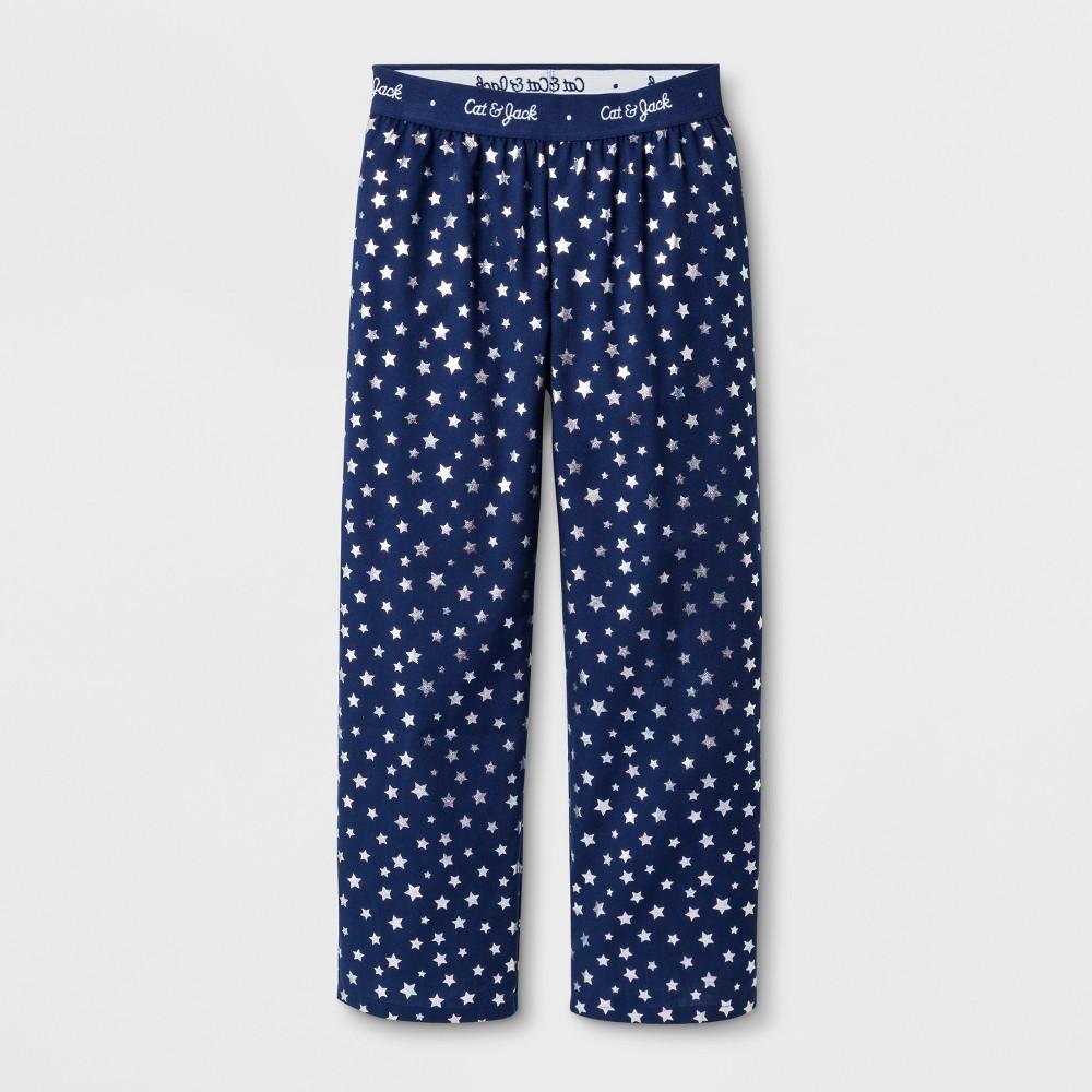 Girls' Stars Graphic Pajama Pants - Cat & Jack Navy M, Blue