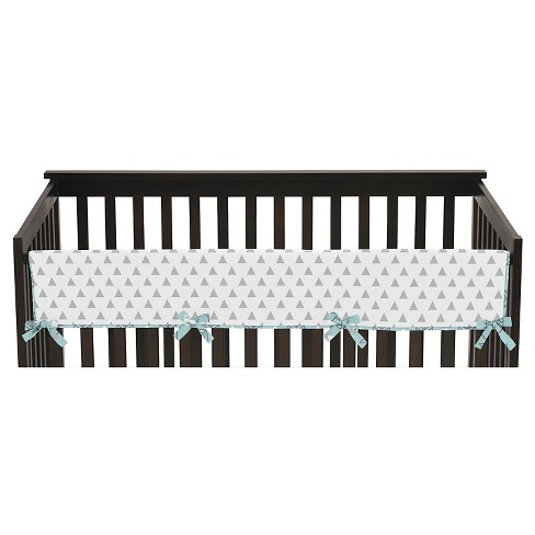 Sweet Jojo Designs Earth & Sky Long Crib Rail Guard Cover - Turquoise - image 1 of 3