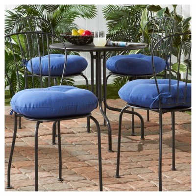 Set Of 4 Outdoor Bistro Chair Cushions   Marine   Greendale Home Fashions :  Target