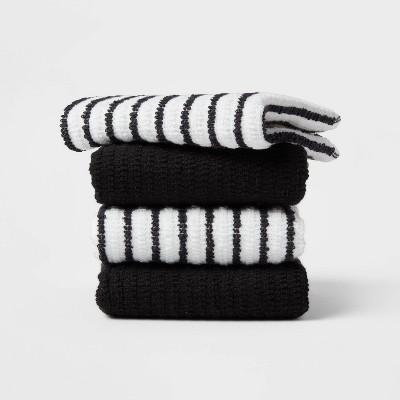 4pk Cotton Dishcloths Black - Room Essentials™
