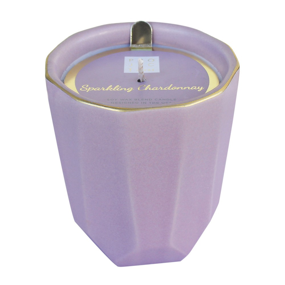 9.52oz Faceted Jar Candle Sparkling Chardonnay - Chesapeake Bay Candle, Purple