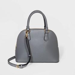 Small Dome Zip Closure Satchel Handbag - A New Day™