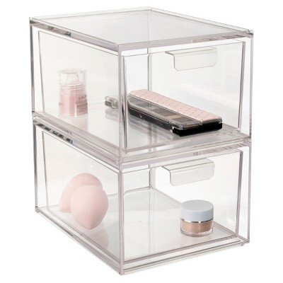 US Acrylic Audrey Cosmetic Organizer Tall Drawer - 2pk