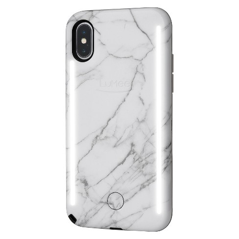 Lumee Duo Apple Iphone X Case White Marble Target