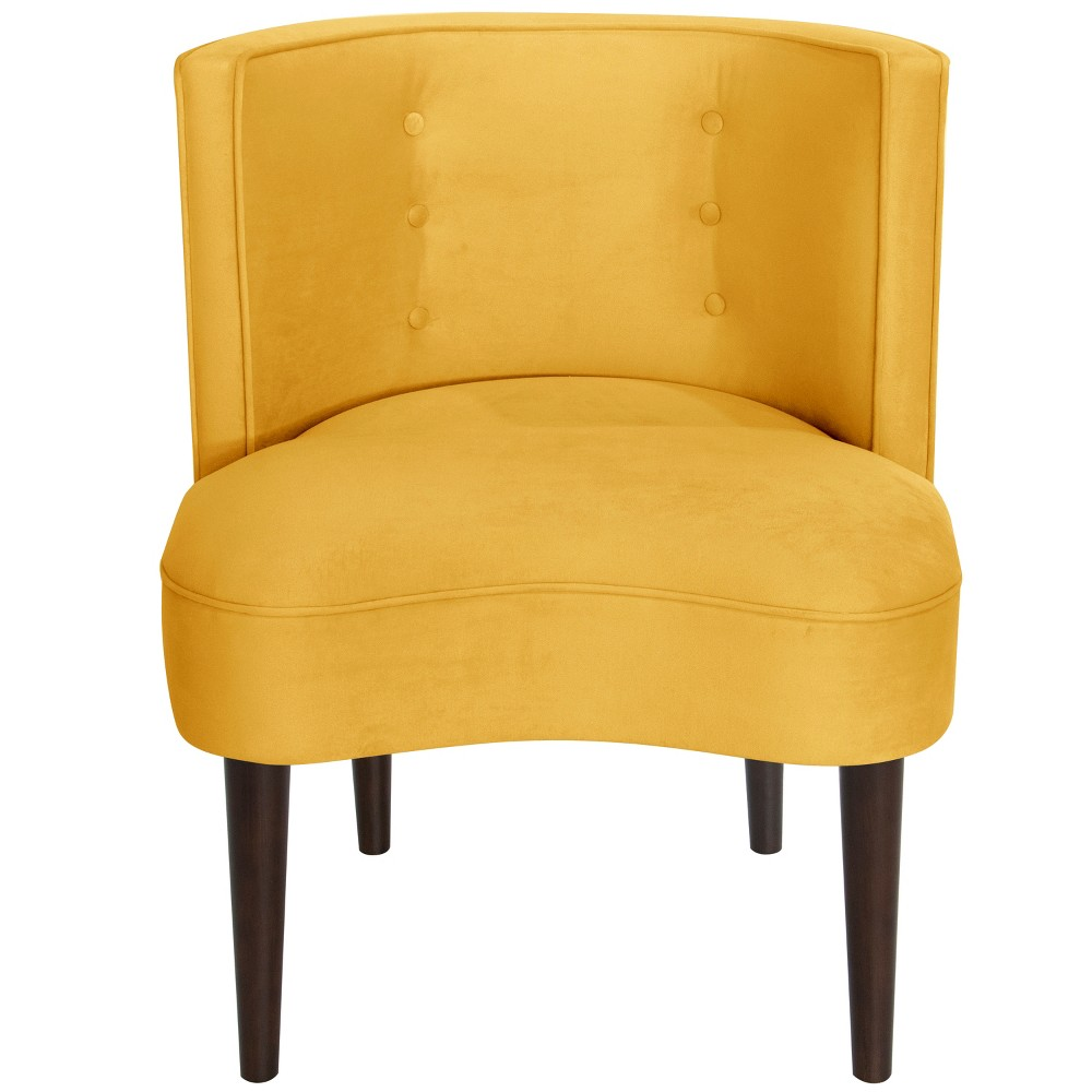 Clary Curved Back Accent Chair Yellow Velvet - Opalhouse