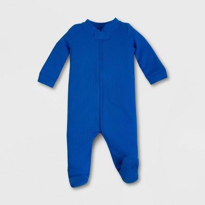 Lamaze Baby Organic Cotton Sleep N' Play Union Suit - Blue Newborn