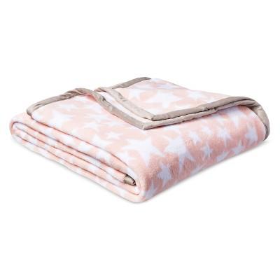 Stars Plush Blanket (Full/Queen)Pink - Pillowfort™