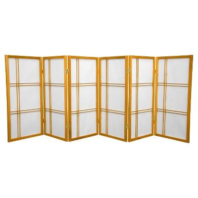 3 ft. Tall Double Cross Shoji Screen (6 Panels) - Oriental Furniture