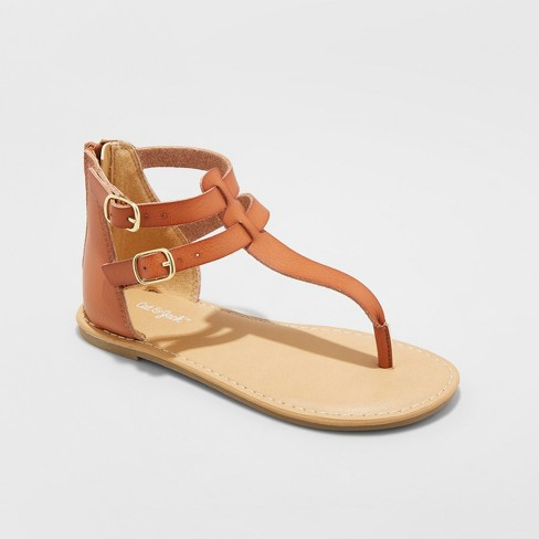 b2ccbdf17 Girls  Jackie Thong Sandals - Cat   Jack™ Cognac   Target