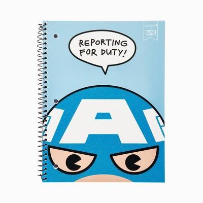 Spiral Notebook 1 Subject College Ruled Captain America - Yoobi™