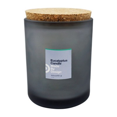 16.9oz Lidded Frosted Jar Candle Eucalyptus - Made By Design™