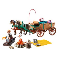 Playmobil Lucky's Dad and Wagon - Spirit Riding Free
