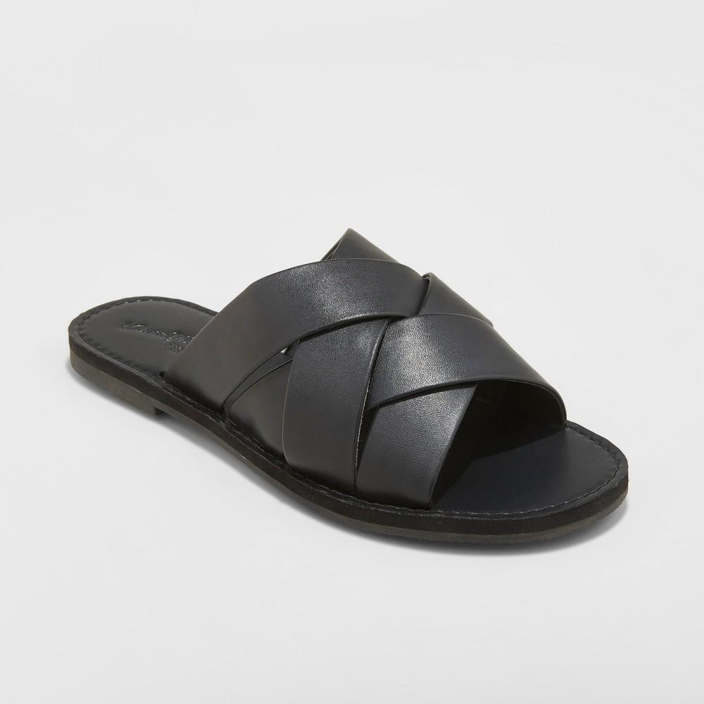 Women's Krissy Crossband Slide Sandals - Universal Thread Black 9.5