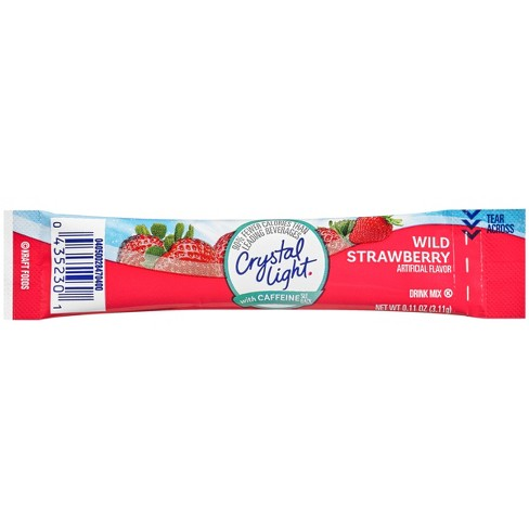 Crystal Light Energy On The Go Wild Strawberry Drink Mix - 10pk/011oz Pouches - image 1 of 2