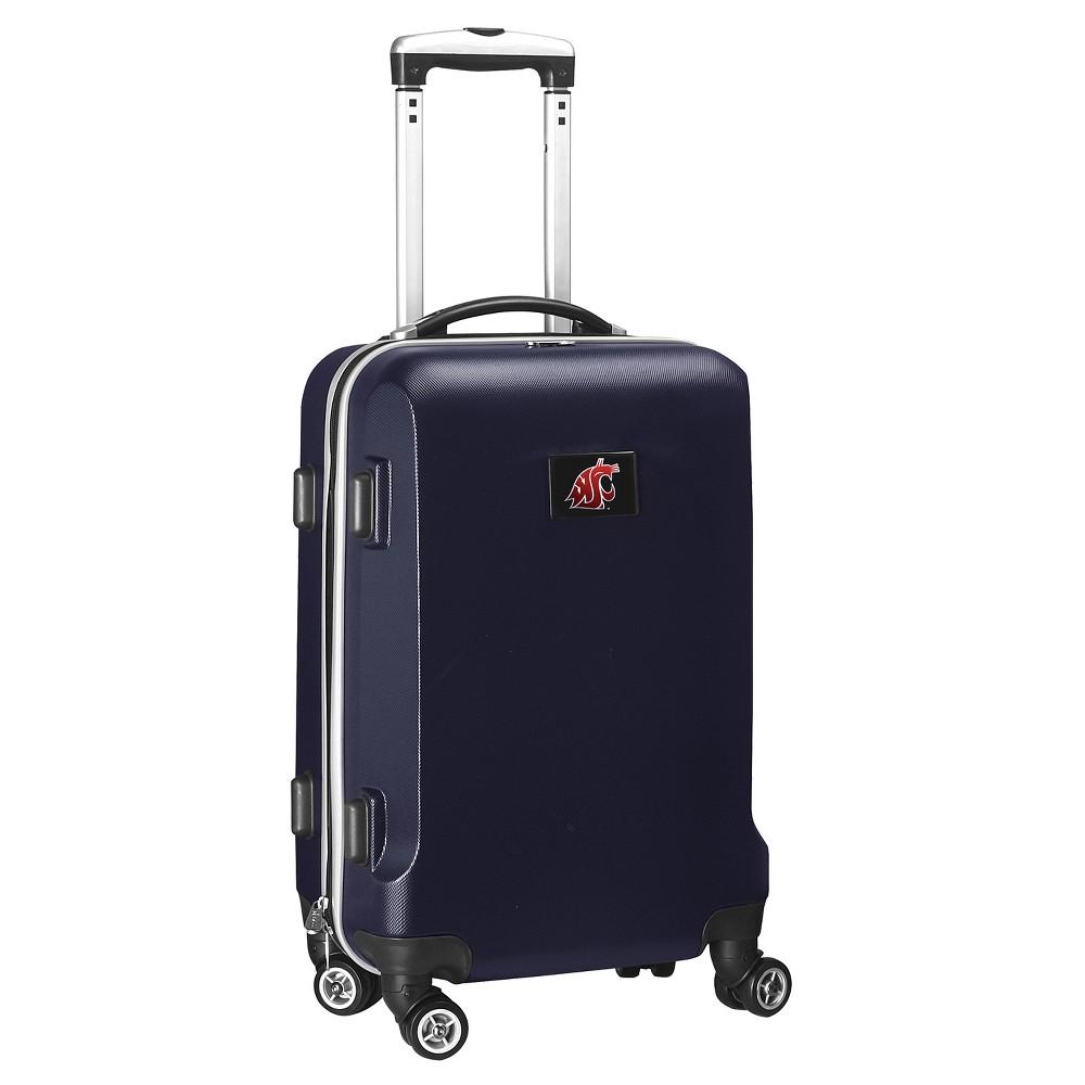 NCAA Washington State Cougars Navy Hardcase Spinner Carry On Suitcase