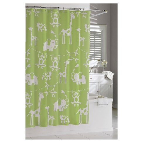 Jungle Shower Curtain Green - Kassatex® - image 1 of 1