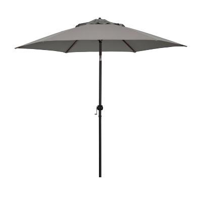 9' Patio Umbrella - Steel Pole with Push Tilt Taupe - Astella