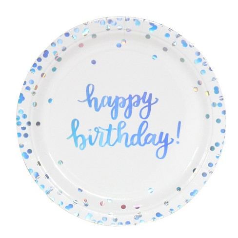 Toyvian 6PCS Birthday Party Paper Crown Hat Birthday Party Supplies for Kids Children Blue