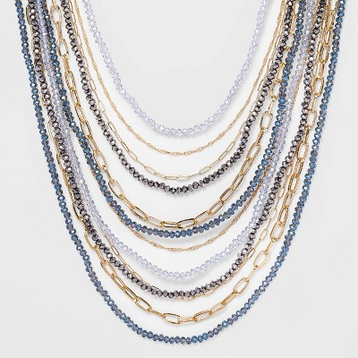 Beaded Chain Necklace - A New Day™