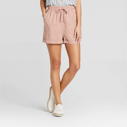 Women's Mid-Rise Tie-Front Utility Shorts - Universal Thread™