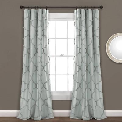Avon Chenille Trellis Single Light Filtering Window Curtain Panel - Lush Décor