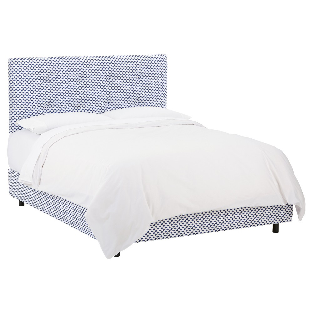 Skyline Dolce Patterned Bed - California King - Skyline Furniture, Sahara Midnight White Flax