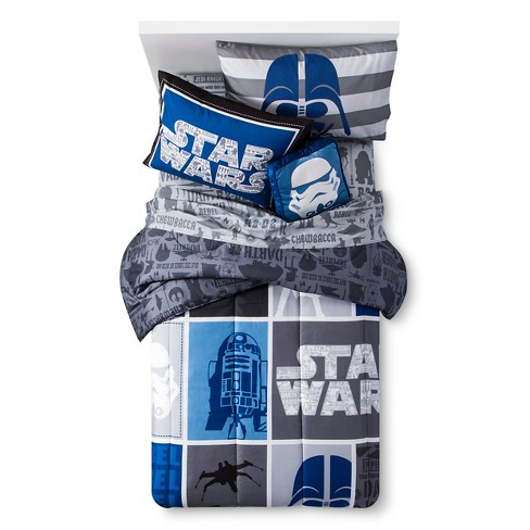 Classic Star Wars Multiple Piece Comforter Set Blue - Star Wars® - image 1 of 3