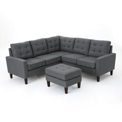 4pc Nasir Sectional Sofa Set Dark Gray - Christopher Knight Home