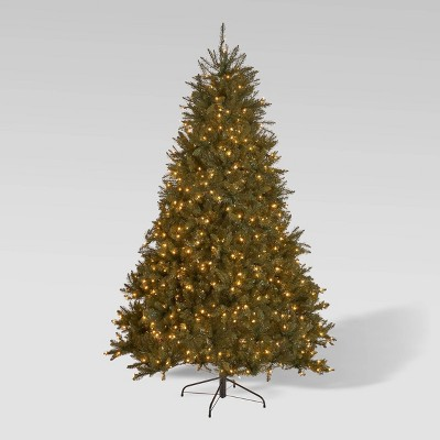 7ft Fraser Fir Hinged Full Artificial Christmas Tree Clear Lights - Christopher Knight Home