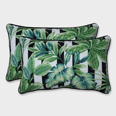 2pk Freemont Palmetto Rectangular Throw Pillows Black Pillow Perfect Target