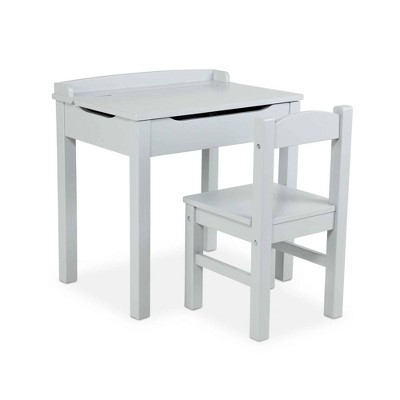 Melissa & Doug Wooden Child's Lift-Top Desk and Chair - Gray