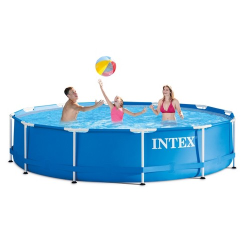 Intex 12 X 30 Metal Frame Above Ground Pool With Filter Pump Target