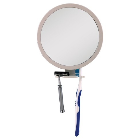Shower Mirror White With Accessory Holder 5x 1x Zadro Z Fogless