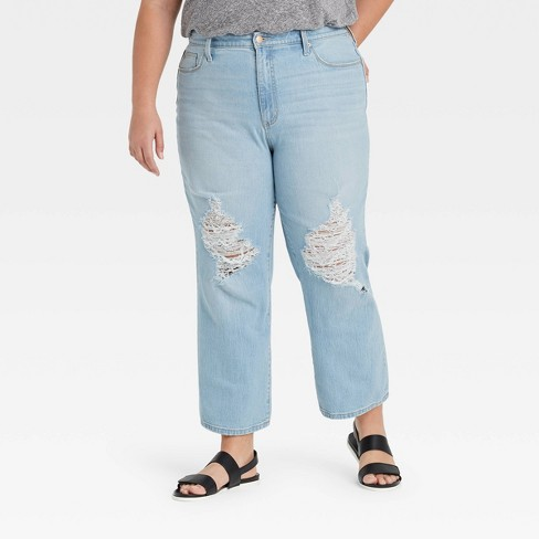 Women's High-Rise Vintage Straight Cropped Jeans - Universal Thread™ - image 1 of 3