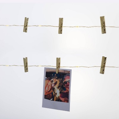 LED Fairy Lights with Metallic Photo Clips - Room Essentials™
