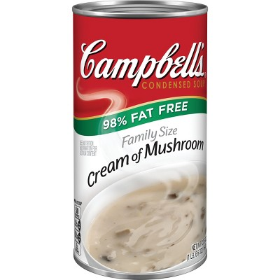 Campbell's Condensed 98% Fat Free Cream Of Mushroom Soup 22.6oz